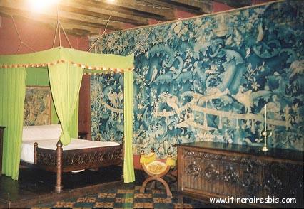 Chambre des Aristoloches aux 3 tapisseries Château de Langeais