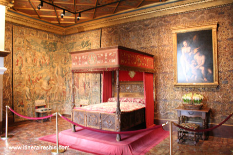 La chambre de Catherine de Médicis à Chenonceau