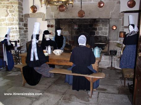 Costumes Bretons traditionnels Bigoudens au manoir de Kerazan