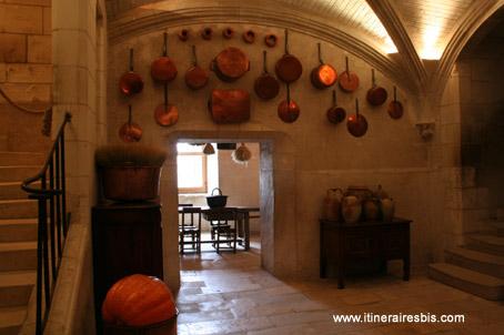 Château de Chenonceau les cuisines