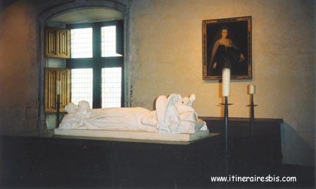 Gisant de Agnès Sorel à voir lors d'une visite du château de Loches