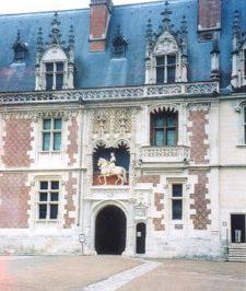 La porte d'entrée du Château de Blois