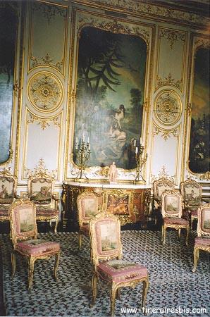 Salon richement décoré avec des meubles d'époque