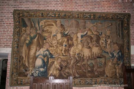 Tapisserie d'Aubusson d'après un carton de Lebrun, à voir lors d'une visite du château d'Amboise