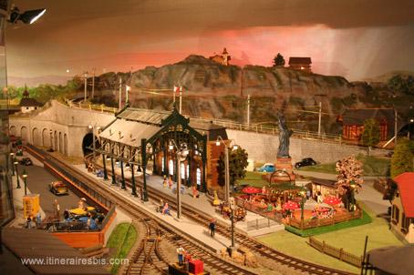 La représentation de cette gare miniature