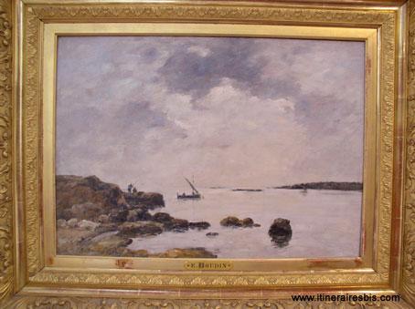 Rocher de l'Islette à Antibes de Eugène Boudin