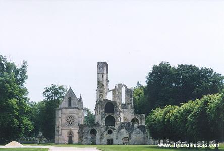 Les ruines de l'Abbaye de Chaalis