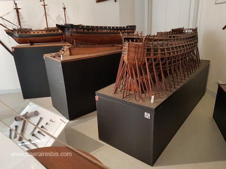 Différents types de bateaux construits à Rochefort