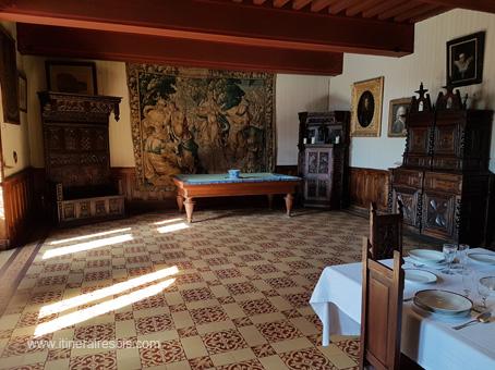 Château de Puymartin le salon de réception