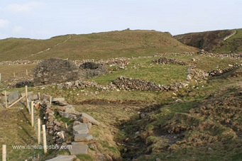 Muret typique de la lande irlandaise