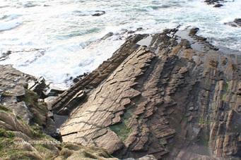 Rochers en forme de carapace, falaises de Moher