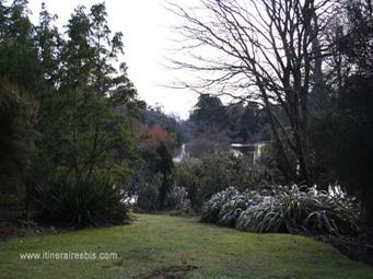 En contre-bas, le lac de Mount Stewart et les Rhododendrons