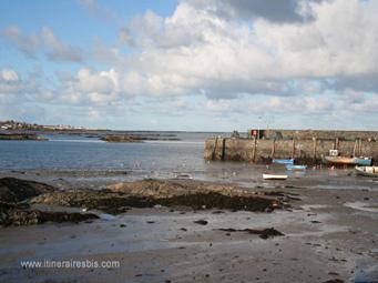 Le petit port de Ballywalter, sur la route de Mount Stewart