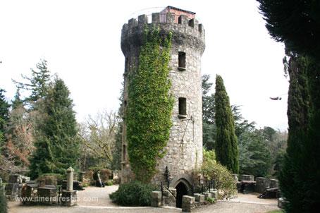 La tour à l'intérieur du parc